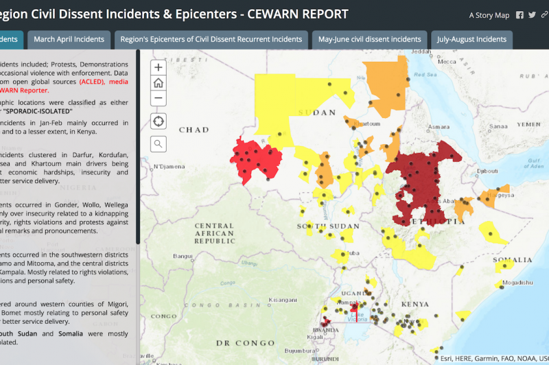 Introducing the CEWARN GIS platform